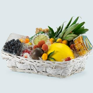 Cesto di frutta esotica